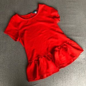 Pim + Larkin red peplum top